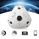 kingko 360 ° Panorama Wireless Home Security Überwachung IP Kamera Audio Video WiFi Die 360 ° Panorama Wireless IP Kamera mit High Definition: 3.0MP: 2048x1536 30fps. (Weiß)