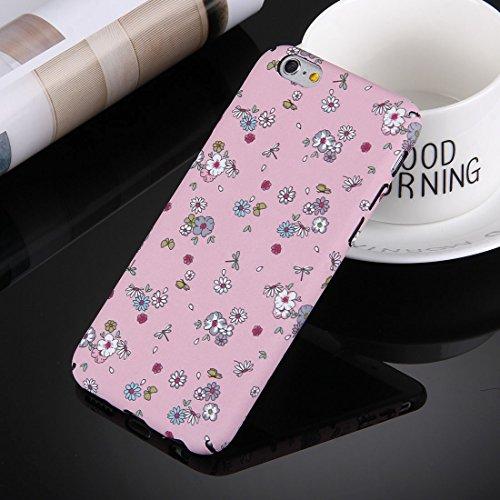 iPhone Case Cover Pour iPhone 6 Plus & 6s Plus Water Decals Noctilucent Motif floral PC Housse de protection ( Color : Pink ) Pink