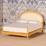 The Dolls House Emporium \'Gold\' Upholstered Double Bed