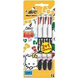 Bic 4 Color Stylo-Bille Medium Hello Kitty Blister de 2+1 Noir/Bleu/Rouge/Vert
