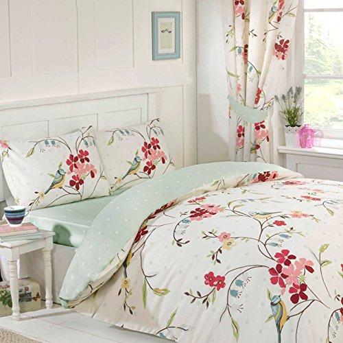 Just Contempo Kariertes Bett in einem Beutel, doppelt, blau, grün, King Size -
