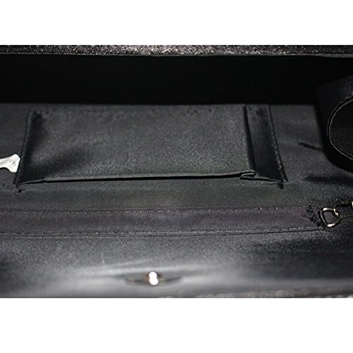 YYW Diamante Clutch Bag, Poschette giorno donna Black
