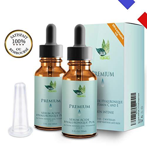 G.F. Sérum Acide Hyaluronique Pur, Premium Sérum Anti âge, Base pour Maquillage, Efface les Cicatrices, les Rides et les Tâches, Soin Régénérant Visage et Yeux