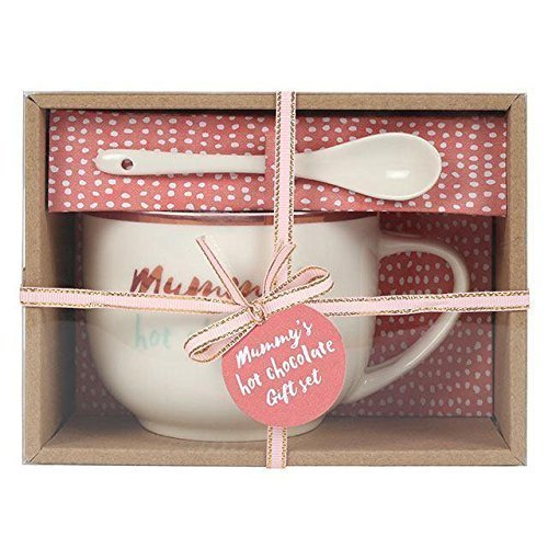 Mama's Hot Chocolate Mug & Löffel Muttertag Geschenk Box Set