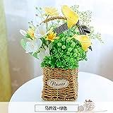 LLPXCC künstliche Blume Wohnzimmer Esstisch Swing Haus dekoriert in Rose American Topfpflanzen und Wandmontage zum Korb Blumen Basketsthat Die grüne E