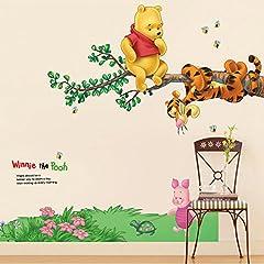 Idea Regalo - Kibi Disney - Adesivo da Parete Winnie the Pooh e Amici Adesivi Murali Winnie the Pooh Stickers Murali Winnie the Pooh Stickers Murali Camerette Bimbi disney Adesivi Muro Winnie Pooh