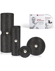 Liebscher und Bracht Set: Faszienrolle und Massageball (je 2 Stück) zum Faszien-Training von Muskeln, Bindegewebe und Stoffwechsel mit Übungen auf DVD
