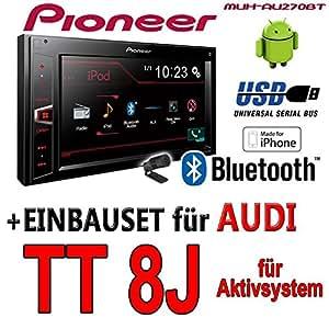 Audi tT 8J actif pioneer mVH-aV270BT - 2DIN autoradio multimédia avec bluetooth/cD sans kit