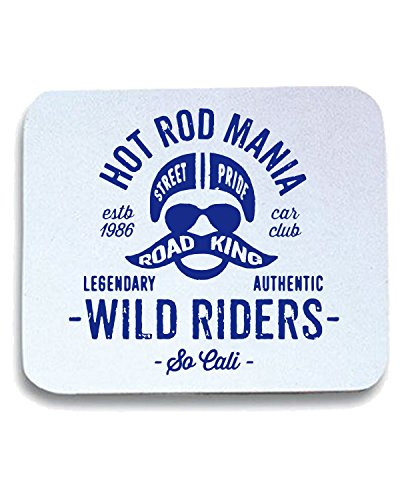 T-Shirtshock - Tappetino Mouse Pad TB0464 vintage hot rod motorcycle bike inspired old school, Taglia taglia unica