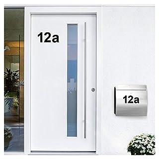 Wandora W1473 Wandtattoo Hausnummer selbstklebend I schwarz Höhe 4 cm Zeichen 1 I Zahlen Buchstaben Ziffern Tür Beschriftung