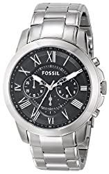 Fossil Chronograph Black Dial Mens Watch FS4736