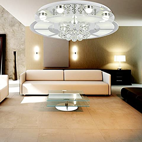 OOFAY LIGHT® Lampada di cristallo semplice ed elegante Lampada da soffitto di cristallo da salone con 9 teste Lampada da soffitto di cristallo alla moda da camera da letto - Elegante Cristallo