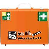 SÖHNGEN 0360111 Erste-Hilfe-Koffer Werkstatt, Wandhalterung, orange, ASR A4.3/DIN 13157 aus Kunststoff