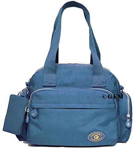 GFM Nylon-Tragetasche, 3 Fächer Style 1 - Jeans Blue (601JNSNL)