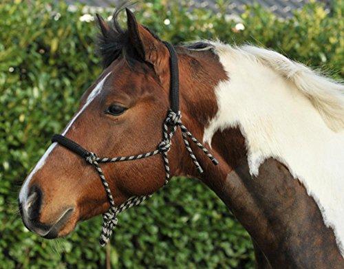 HKM 14009125.0952 Knotenhalfter, rund gepolstert an Nase und Genick, schwarz/beige