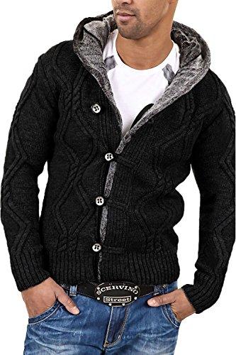 CARISMA Strickjacke Jacke Pullover 7013 [Schwarz, 4XL]