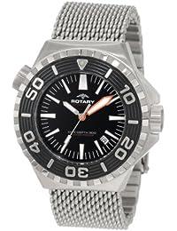 Rotary Aquaspeed - Reloj analógico de cuarzo para hombre con correa de acero inoxidable, color plateado
