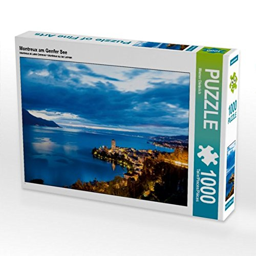 Montreux am Genfer See 1000 Teile Puzzle quer