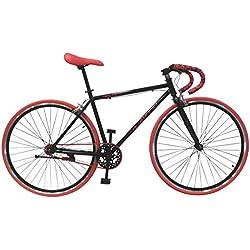 Helliot Bikes Fixie Soho H03 Bicicleta Urbana, Unisex Adulto, Negro Mate, Talla Única