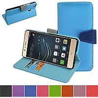 Huawei P9 Lite / G9 Custodia,Mama Mouth Portafoglio custodia in PU di cuoio pelle con supporto carte di credito in Piedi caso Case per Huawei P9 Lite / G9 Smartphone,La Luce Blu