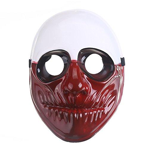 Eizur Halloween Maske Alter Mann Fantasie Gruselig Kunststoff Maske Maskerade Karneval Kostüm Cosplay Requisiten für Fasching Party Abendkleid