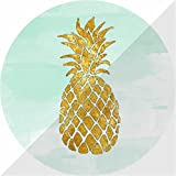 Expanding Stand and Grip for Smart phones and Tablets,Multi-function Mounts and Mount pop cell phone Collapsible Holder socket-golden pineapple-white