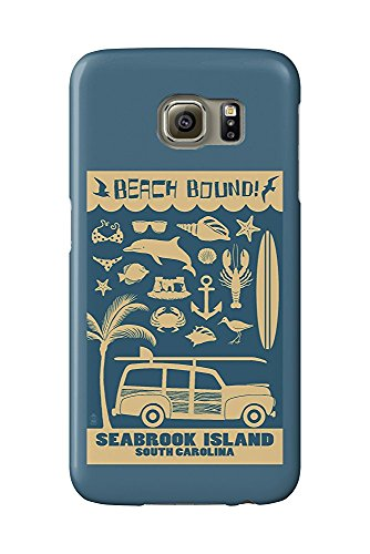 Seabrook Island, South Carolina - Coastal Icons (Galaxy S6 Cell Phone Case, Slim Barely There) -