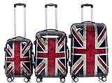 BEIBYE - Maleta  diseño de la bandera de Inglaterra Set