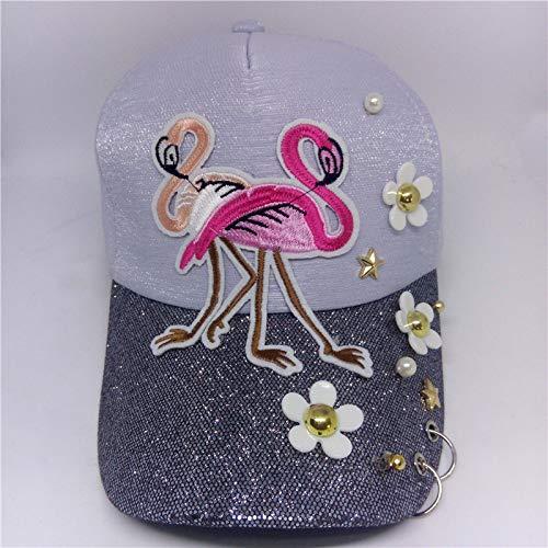 zhuzhuwen Baseball Cap Flamingo Stickrahmen 3 verstellbar (Big-muffin-tin)