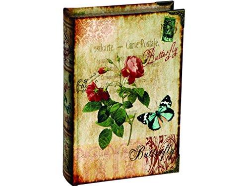 Madelcar Libro-Caja Fuerte Flores+Mariposas 16x5x24cm