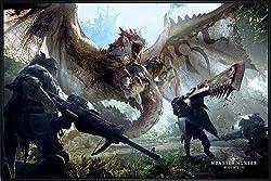 Close Up Monster Hunter World Poster (62x93 cm) gerahmt in: Rahmen schwarz
