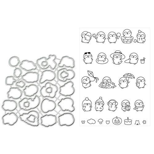 Kreativknoten Dobladillo para decoraci/ón con Detalles Grabados adornar y Hacer Manualidades dise/ño de ping/üino