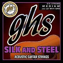 GHS 350 Silk n Steel 11 - 48 Medium Acoustic Guitar String Set