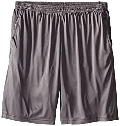 Champion Mens Big-Tall Powertrain Shorts, Grey, 3X