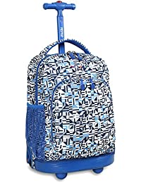 JWorld New York Sunny Rolling Backpack Sac à Dos Loisir, 17 Centimeters