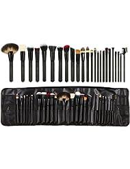 Abody 24Pcs Pinceaux de Maquillage Brosses d'animaux Professionnels Kit de Brosses Cosmétique avec un Sac Brosse pour Fond de Teint,Poudre Sourcil,Fard à Paupière