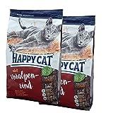 2 x 10 kg Happy Cat Katzenfutter Supreme Voralpen Rind