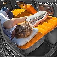 InnovaGoods Cama Hinchable para Coches, PVC, Naranja y Gris, 86x135x40 cm