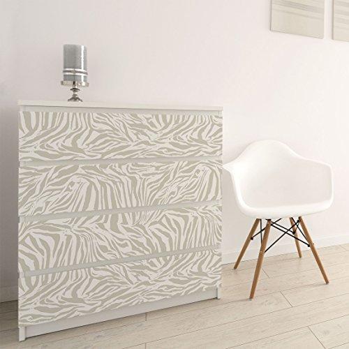Carta Adesiva per Mobili - Zebra Design light gray stripe pattern ...