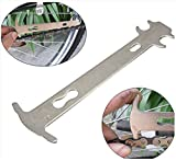 Malayas®Fahrrad Bike Kettenverschleiß Chainchecker Abnutzung kette Messung Lineal Kohlenstoff Stahl Reparatur Fahrrad Kette Werkzeug Zubehör