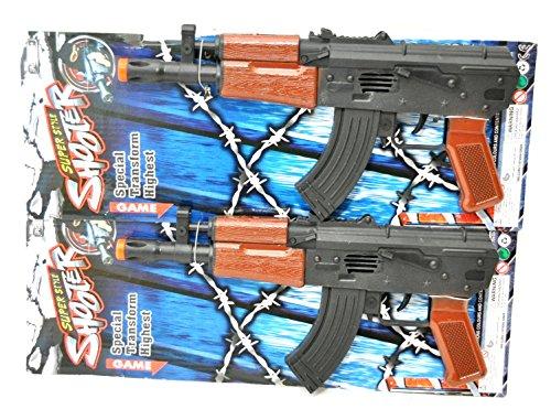 2 X Gewehr MG Maschinengewehr mit SOUND und FUNKEN Rattergewehr 30 CM by schenkfix