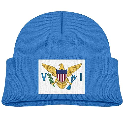 Funny Unisex Boys Girls Flag of The United States Virgin Islands Knitted  Beanie Caps Cute Kids 52f19c90bfb0