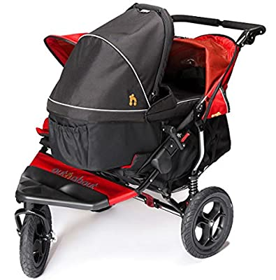 Out N About Nipper 360carrito doble V4con 1Raven negro Carrycot