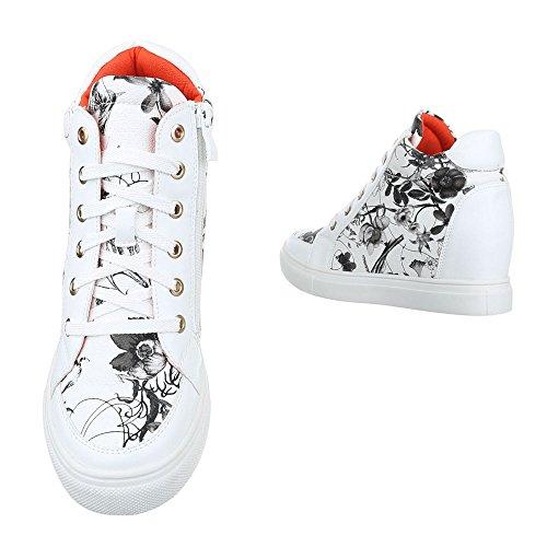 Ital-Design - Pantofole a Stivaletto Donna bianco nero