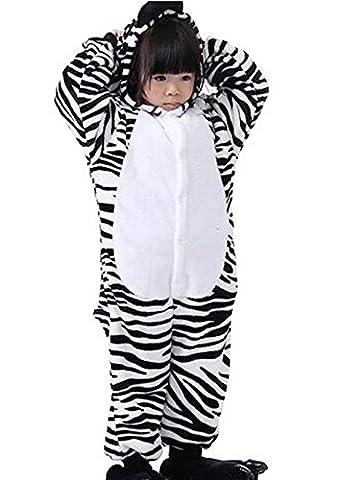 ABYED® Jumpsuit Tier Karton Fasching Halloween Kostüm Sleepsuit Cosplay Fleece-Overall Pyjama Schlafanzug Erwachsene Unisex Lounge,Kinder Größe 105 - für Größe: 116-125cm