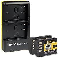 PATONA Dual Cargador + 2x Bateria DMW-BLF19 para Panasonic Lumix DMC-GH3 DMC-GH3A DMC-GH4 con micro USB