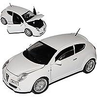 Alfa Romeo Mito Weiss 3 Türer Ab 2008 1//24 Bburago Modell Auto mit oder ohne i..