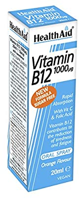 HealthAid Vitamin B12 1000g Spray 20ml by HealthAid
