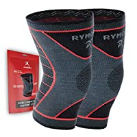 Rymora Knee Support Compression Sleeves for Men and Women (Pair)