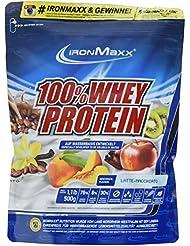IronMaxx 100% Whey Protein / Wasserlösliches Whey Eiweißpulver / Proteinshake mit Latte Macchiato Geschmack / 1 x 500 g Beutel
